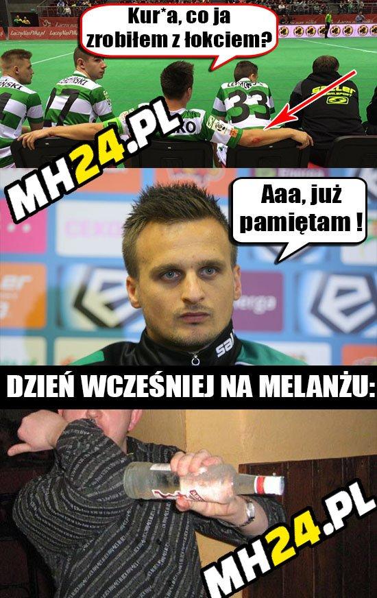 Wiadomo co Peszko zrobił sobie z łokciem Sport