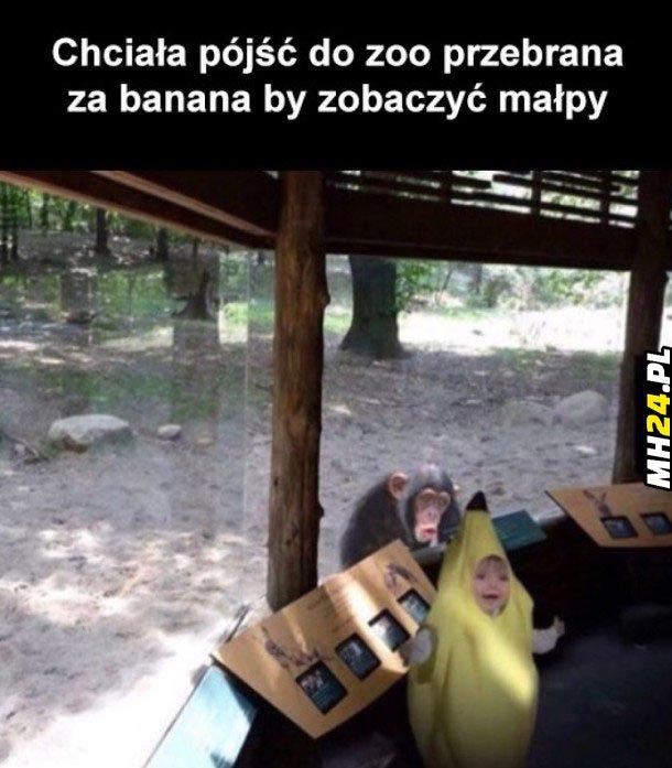 Chciała pójść do zoo…