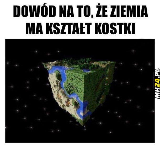 Ziemia jest kostką Obrazki