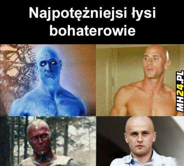 Łysi bohaterowie Obrazki