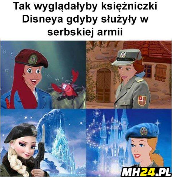 Księżniczki Disneya w serbskiej armii Obrazki