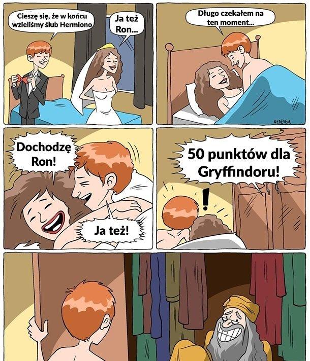 Tak wyglądała noc poślubna Rona i Hermiony Bez kategorii