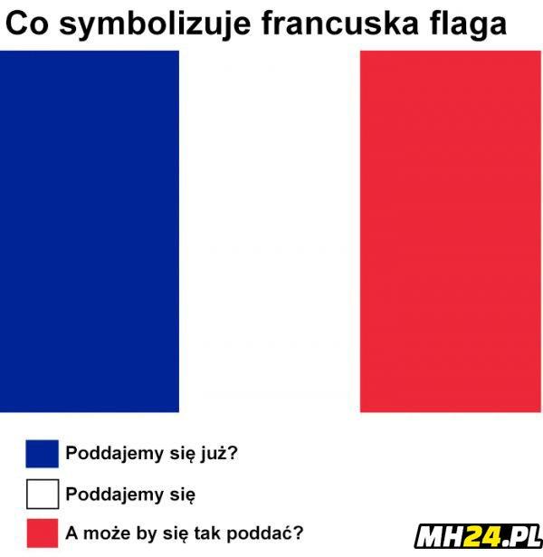 Co symbolizowała francuska flaga