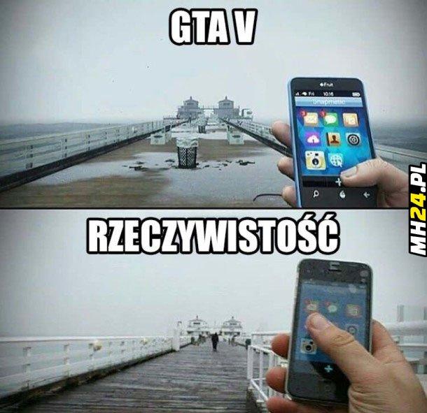 GTA V vs rzeczywistość
