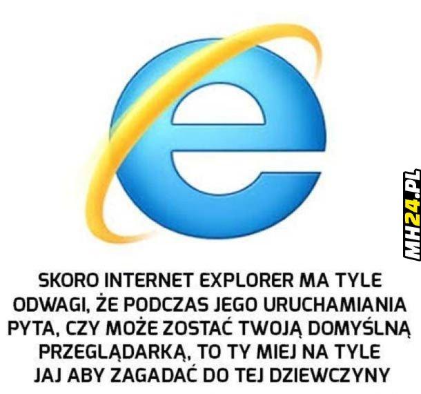 Internet Explorer daje przykład