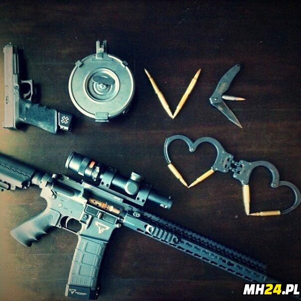 Kocham broń Obrazki