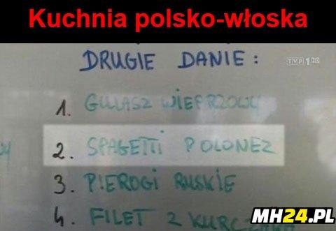 Kuchnia polsko-włoska Obrazki