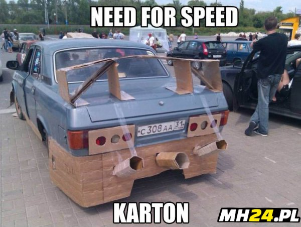 Need for speed karton