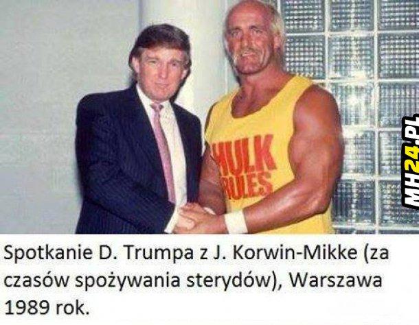 Spotkanie Donalda Trumpa i Janusz Korwin-Mikke xD