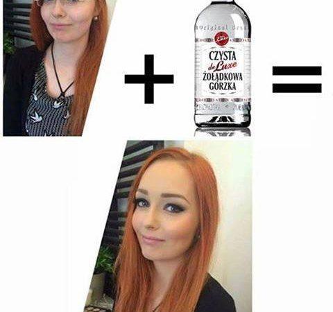 DZIEWCZYNA + ALKOHOL = ŚLICZNOTKA