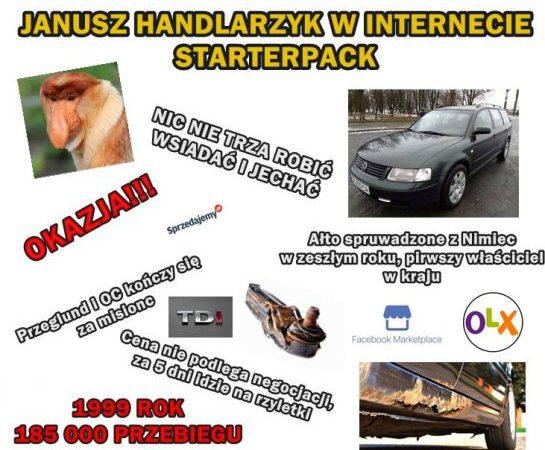 Janusz handlarzyk w internecie