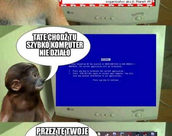 Kiedy komputer nie działa…