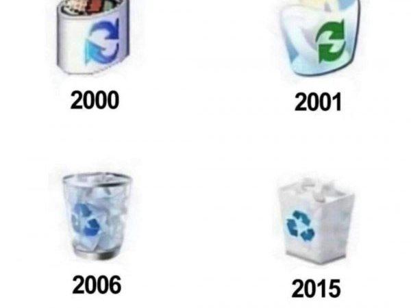 Rozwój ikonki kosza w Windowsie xD