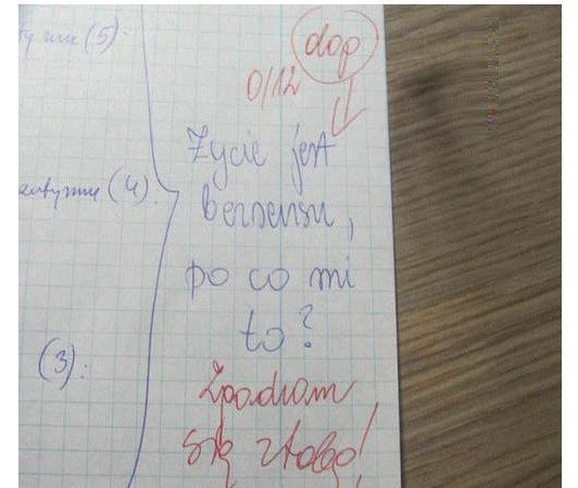 Uczeń rozwalił :D